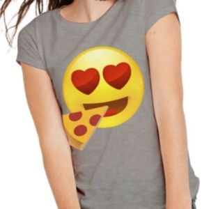 Tops - Graphic Tee Emoji Pizza size Large